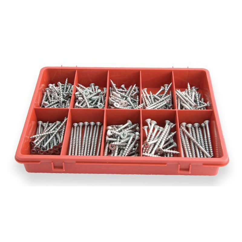 Assorted chipboard screws 300 pce